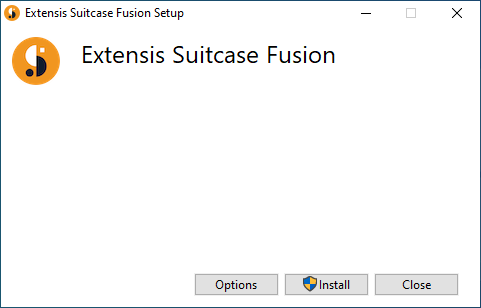 The first screen of the Suitcase Fusion installer